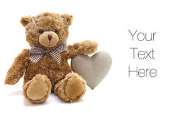 Teddybär-Liebe Lizenzfreie Stockfotografie