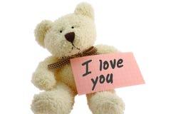 Teddybär - liebend Stockfoto
