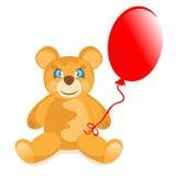 Teddybär mit Ballon Lizenzfreie Stockfotos