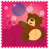 Teddybär mit Ballon Lizenzfreies Stockfoto