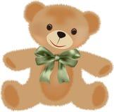Teddybär mit Bogen lizenzfreie abbildung