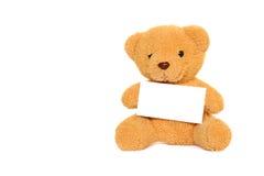 Teddybär mit dem Leerzeichen getrennt Stockfoto
