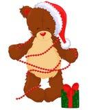 Teddybär mit Geschenkbox Lizenzfreie Stockfotos
