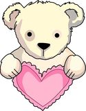 Teddybär mit Herzen Stockfotografie