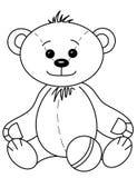 Teddybär mit Kugel, Formen stock abbildung