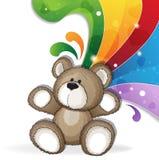 Teddybär mit Regenbogen Lizenzfreie Stockfotografie