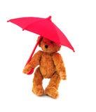 Teddybär mit Regenschirm Stockfoto