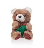 Teddybär mit Schal Lizenzfreies Stockfoto