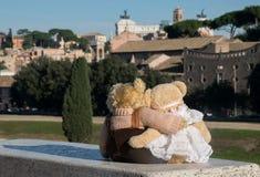 Teddybär in Rom Lizenzfreie Stockbilder