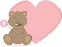 Teddybär und großes Inneres, vektorabbildung Stockfotografie