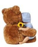 Teddybär und Puppe Stockfotografie