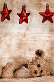 Teddybär und Sterne stockfotos