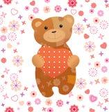 Teddybär-Valentinsgruß Stockbild