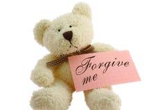 Teddybär - verzeihen Sie mir Lizenzfreie Stockfotografie