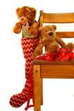 Teddybär-Weihnachten Stockfoto