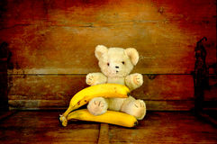 Teddybär witn Frucht Lizenzfreie Stockfotografie