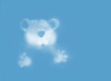 Teddybär-Wolke stockfotos