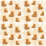 Teddybären des Musters zwei Lizenzfreie Stockfotografie