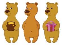 Teddybären, Set lizenzfreie abbildung