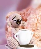 Teddybären und Zucker stockfoto