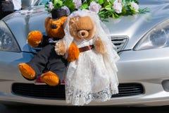 Teddybärheirat Lizenzfreie Stockfotografie