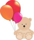 Teddybärholding Ballons stock abbildung