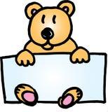 Teddybärnamensabzeichen Lizenzfreie Stockfotografie