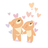 Teddybärpaare Lizenzfreies Stockbild