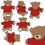 Teddybärsatz Lizenzfreie Stockfotos