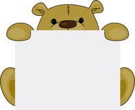 Teddybärschild lizenzfreie abbildung