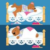 Teddybärschlafen vektor abbildung