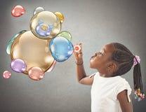 Teddybärseifenblasen Stockfotografie