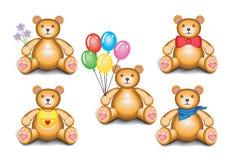 Teddybärset Stock Abbildung