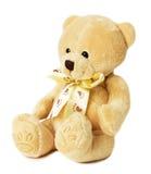 Teddybärspielzeug auf dem weißen Hintergrund Stockfotos
