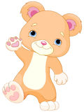 Teddybärwege stock abbildung