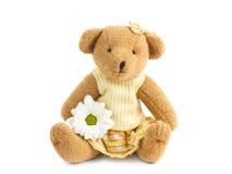 teddybear的女孩 免版税库存图片