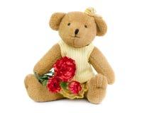 teddybear的女孩 库存图片