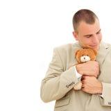 teddybear的生意人 免版税库存图片