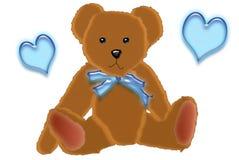 teddybear的男孩 免版税图库摄影