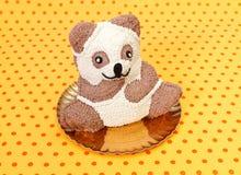 Teddybear蛋糕 免版税图库摄影