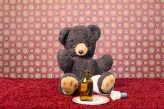 Teddybear больно Стоковые Изображения RF