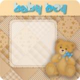Teddybear Baby der Weinlese Lizenzfreie Stockfotos