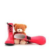 Teddybear with boots Royalty Free Stock Photos