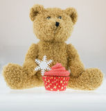 Teddybear cupcake Royalty Free Stock Image