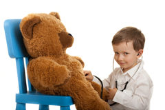 Teddybear examination Stock Photography