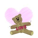 teddybear förälskelse Royaltyfria Bilder