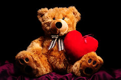 Teddybear with heart Stock Image