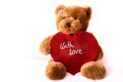 teddybear hjärta Royaltyfri Fotografi