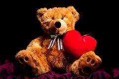 teddybear hjärta Fotografering för Bildbyråer