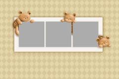 teddybear kort Royaltyfri Fotografi